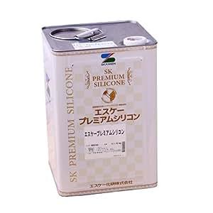 エスケー化研 水性ハイブリッドシリコン樹脂塗料 エスケープレミアムシリコン 15kg 白