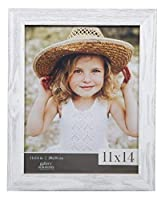 Gallery Solutions 11x14 Farmhouse Washed Wall Frame in White [並行輸入品]