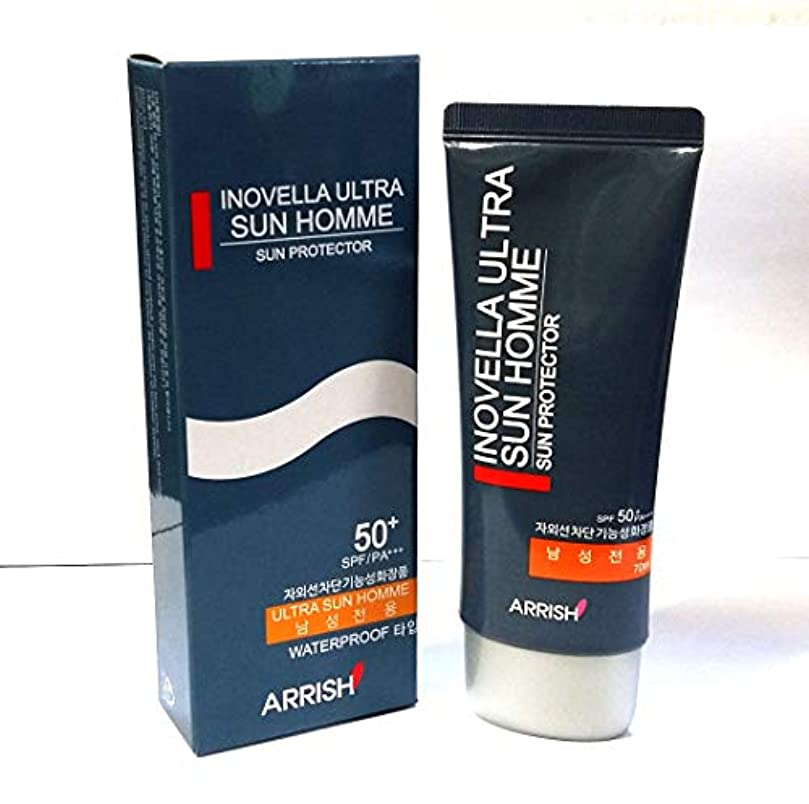 学期形成非アクティブ[INOVELLA] ウルトラサンブロッククリームオム70ml / Ultra Sun Block Cream Homme 70ml/SPF50+PA+++/男性のみ/韓国化粧品/Male only/Korean Cosmetic...