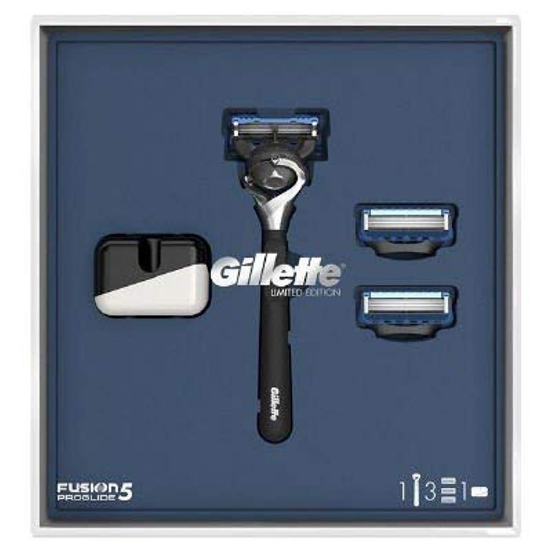 騒々しい冷酷な感謝(ジレット)Gilette プログライド 髭剃り本体+替刃3個 オリジナルスタンド付き スペシャルパッケージ P&G