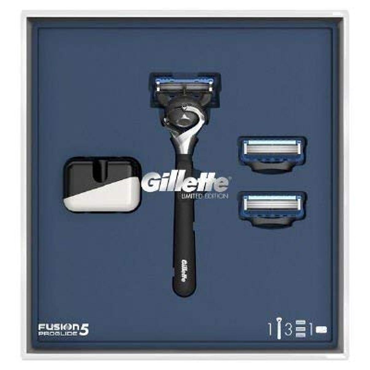 真面目な使い込む師匠(ジレット)Gilette プログライド 髭剃り本体+替刃3個 オリジナルスタンド付き スペシャルパッケージ P&G