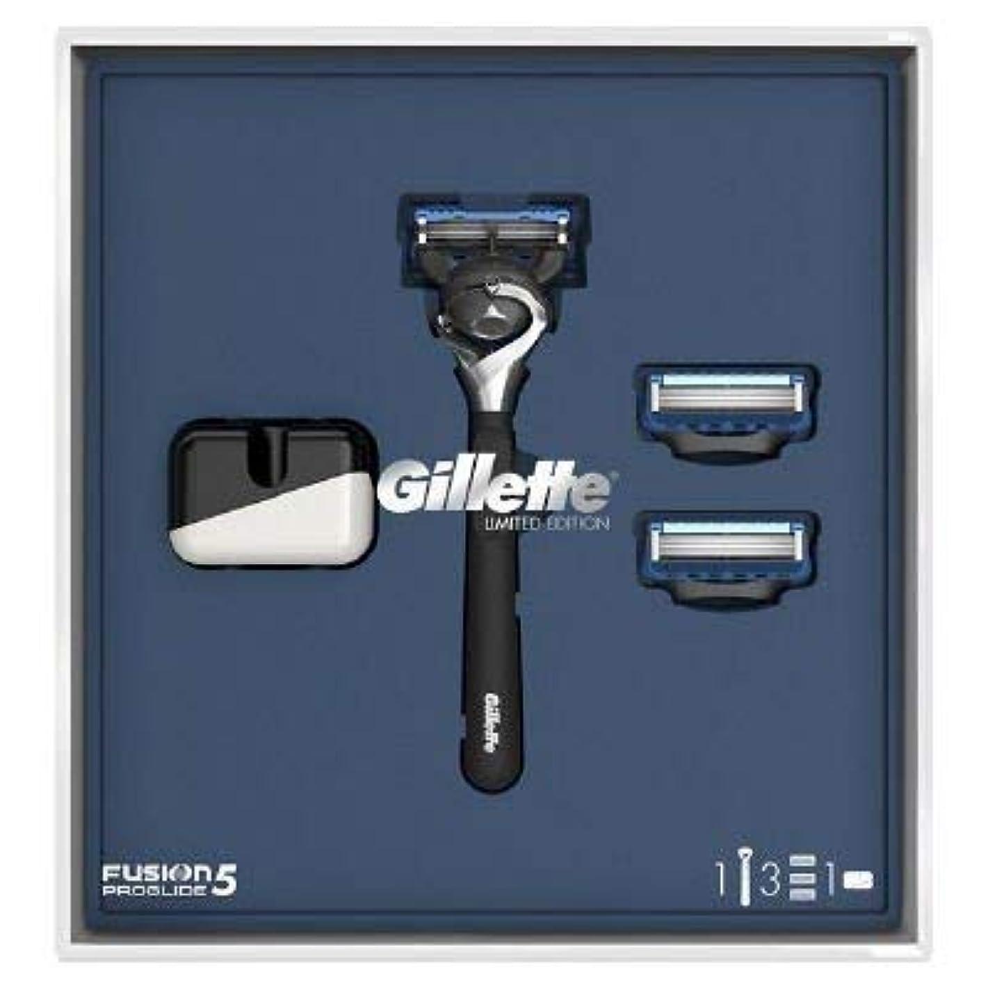 古くなった注入する牛(ジレット)Gilette プログライド 髭剃り本体+替刃3個 オリジナルスタンド付き スペシャルパッケージ P&G