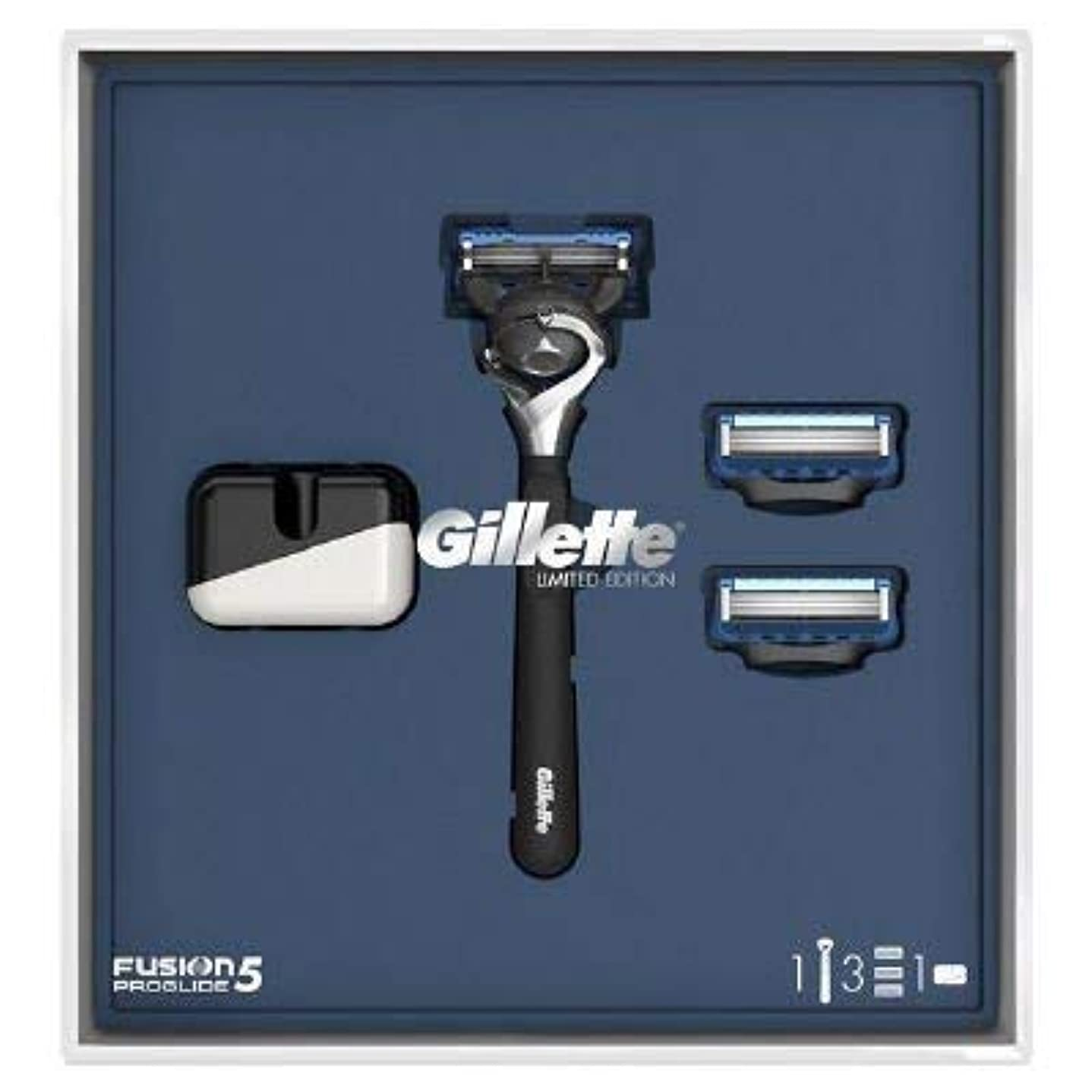 少ないストライク賠償(ジレット)Gilette プログライド 髭剃り本体+替刃3個 オリジナルスタンド付き スペシャルパッケージ P&G