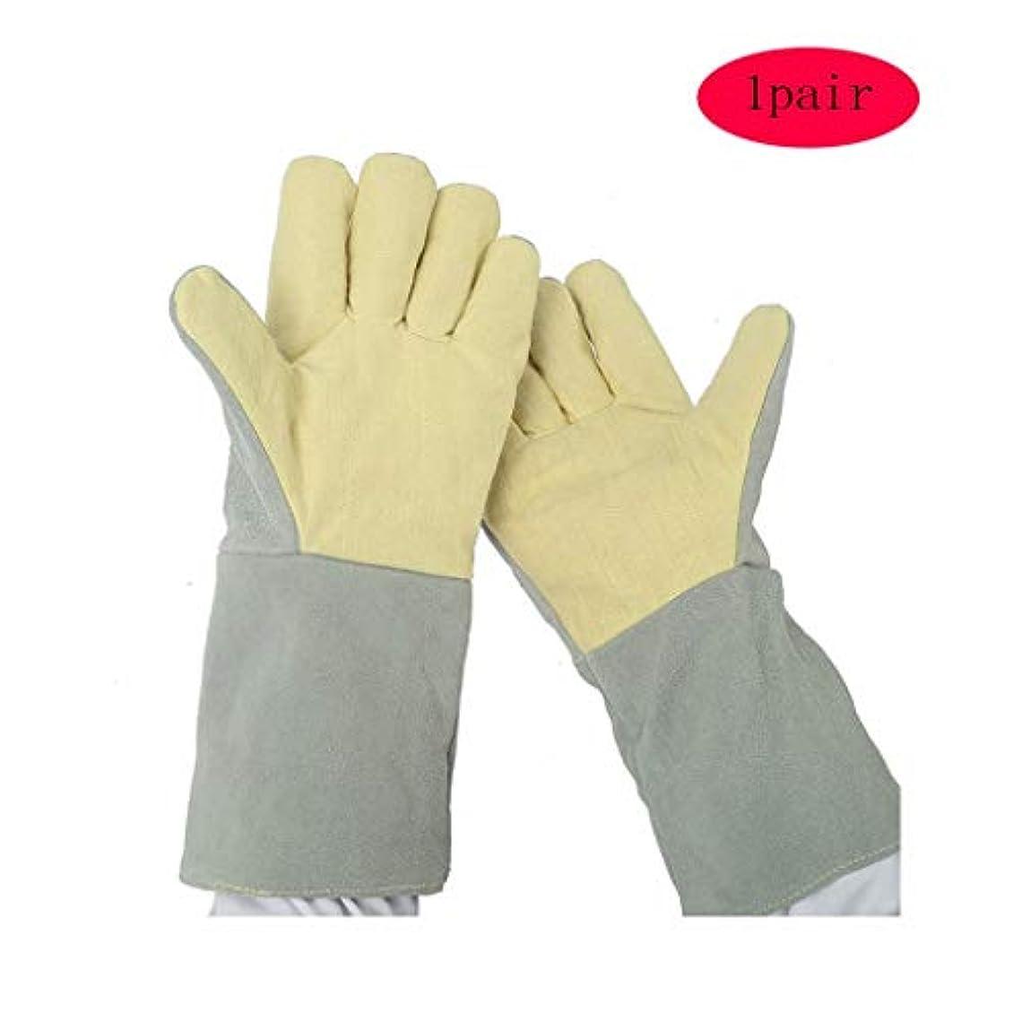ウォーターフロント温度計宇宙船QCRLB 溶接用手袋/労働保護用手袋/整備工作用耐油滑り止め手袋/現場操作用耐摩耗手袋/ダブル1個/ -38cm ゴム手袋