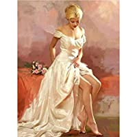 5d diyダイヤモンド絵画美しい女の子ダイヤモンドクロスステッチダイヤモンドモザイク絵画装飾、家の装飾、美しい贈り物,70x90cm