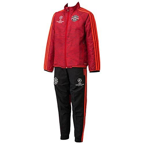 (アディダス)adidas KIDS マンチェスターユナイテッドFC UCL プレゼンテーションスーツ APU91 AC1505 スカーレット/ソーラーレッド/ブラック 160