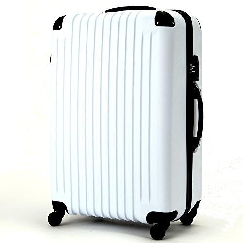 (ファーストドア) 1STDOOR 超軽量スーツケース TSAロック付 (Mサイズ(54L), ホワイト)