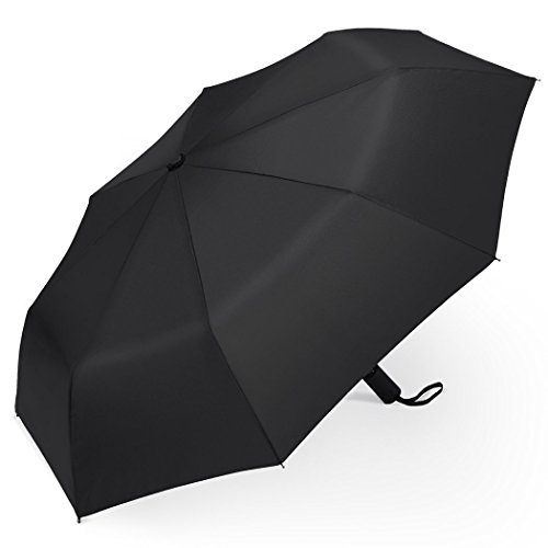 PLEMO 折り畳み傘 ワンタッチ自動開閉 おりたたみ傘 耐風強化 錆び止め傘骨 ブラック 94センチ