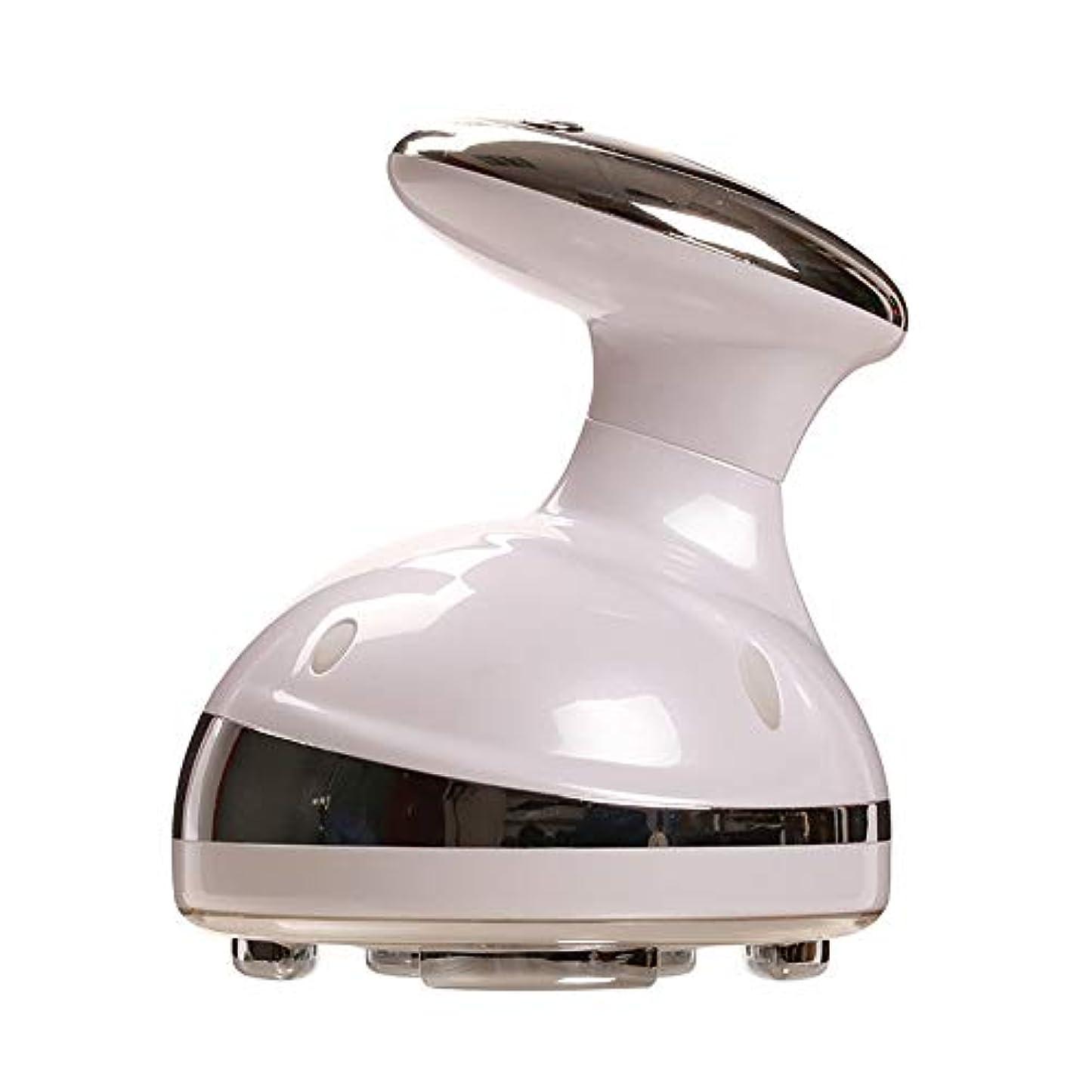 必需品パネル放置電動痩身マッサージ充電式ハンドヘルド脂肪除去デバイス用アームレッグウエストヒップマッサージフェイシャルスキンリフティング Tighting,White