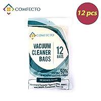 Healthy Vacuum Bags 医療 グレード 抗菌 木材パルプ 紙 掃除機 バッグ Kenmore Canister Type C/ Panasonic Type C5/50558/50557/5055 10 枚 パック 鮮やか イエロー
