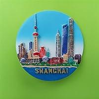 3d上海、中国冷蔵庫マグネット、お土産ギフト有名なTourist