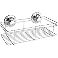 Vdomus 浴室用ラック 強力 吸盤 ステンレス お風呂用 バス用品 洗面所 改良