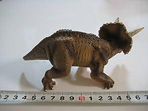 ミニチュア プラネット 恐竜シリーズ 特大 トリケラトプス  茶 動物 フィギュア EIKOH エイコー 恐竜フィギュア