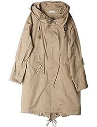 モッズコート レディース 大きいサイズ ロング ミリタリー 綿100% コート