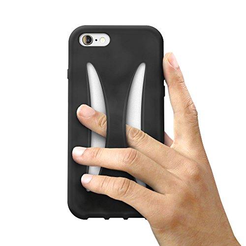 iPhone 8 / iPhone 7 シリコン ケース 落下防止 カバー アイフォン7 衝撃 吸収 保護 (iPhone8 / iPhone7, ブラック)