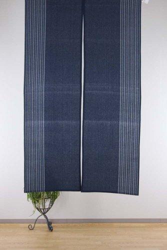 narumikk のれん 暖簾 楽 紺 150cm丈 17-196