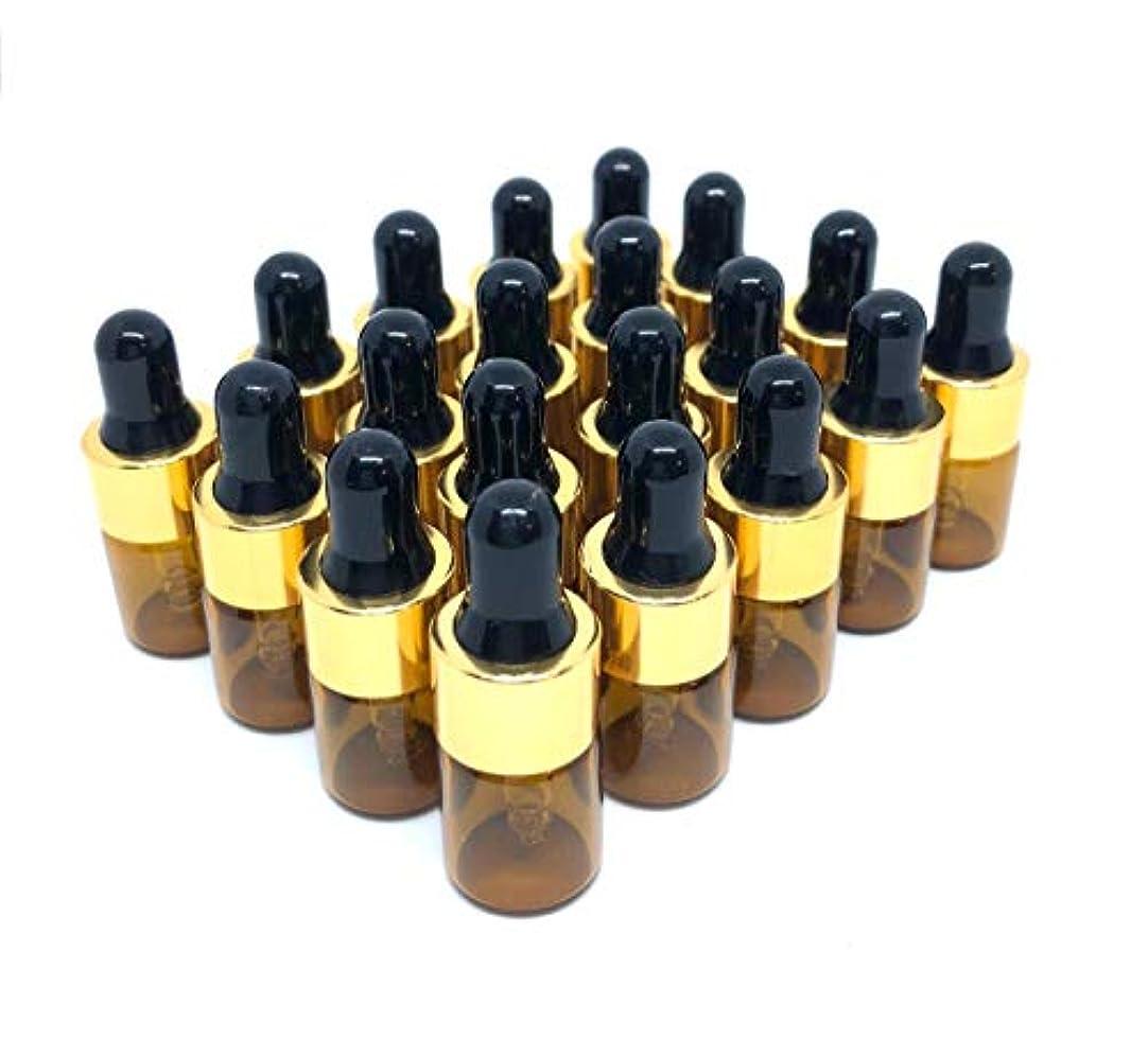 取得するエリート会員beauty factory スポイト 遮光瓶 アロマオイル 化粧水 精油 小分け用 ガラス製 保存容器 20本 セット (2ml)