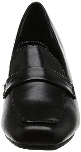 Romeo Valentino パンプス スクエアトゥ ヒール6.5cm 足囲3E PUレザー VB3302 ブラック 22.5 cm 3E [7229]
