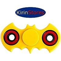 Kirinstores(TM)Finger Spinner fidget Spinner バットマン?フィジェットSpinnerアンチストレスおもちゃを解放する不安ストレス高速フォーカス玩具 (黄)