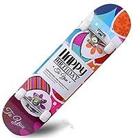 スケートボード標準スケートボード完全なスケートボードプロのスケートボード子供初心者大人青年凹面デッキPUホイール (Color : C)