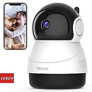 Victure 1080P FHD 200万画素 ネットワークカメラ WiFi IPカメラ ワイヤレス屋内カメラ 暗視撮影 動体検知 双方向音声 防犯/監視カメラ パン/チルト/ズームモニター ベビー/老人/ペット見守り