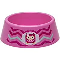 Zak! Designs Toddlerific Toddler Bowl with Pink Owl, No-tip Wide Base, Break-resistant and BPA-free Plastic by Zak Designs