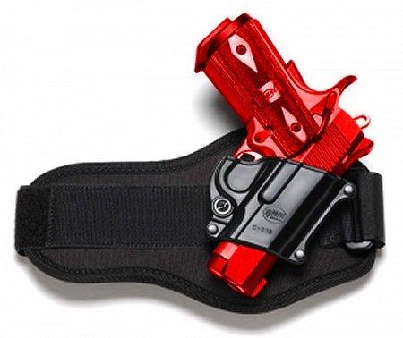 Concealed CarryライトFobus足首(脚)ハンドガンホルスターモデルc-21-a。Fits to : Colt。45govt.すべて1911スタイル、FN–FN高電源、FN 49、Kimber 4インチ、5インチ、Sarsilmaz (トルコ) Klinic 2000ライト。タクティカルハード樹脂