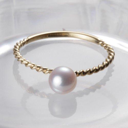 [해외]베이비 진주 반지 K18 이름 입력 대응 가능 상품/Baby pearl ring K 18 persons can be supported