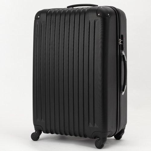 (トラベルデパート) 超軽量スーツケース TSAロック付 (Lサイズ(86L), ブラック)