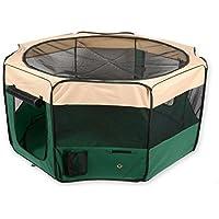 Pettom ペットサークル 折りたたみ 犬用ケージ 犬 サークル メッシュ 犬用 サークルケージ (約)114cm×62cm マジックテープタイプ
