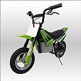 250W搭載電動ポケバイ モトクロスモデル ダートバイクタイプポケットバイク グリーン CR-DBE01