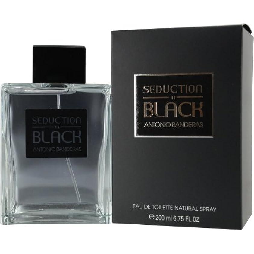 ピューを通して水族館Seduction in Black (セダクション イン ブラック) 6.7 oz (200ml) EDT Spray by Antonio Banderas for Men