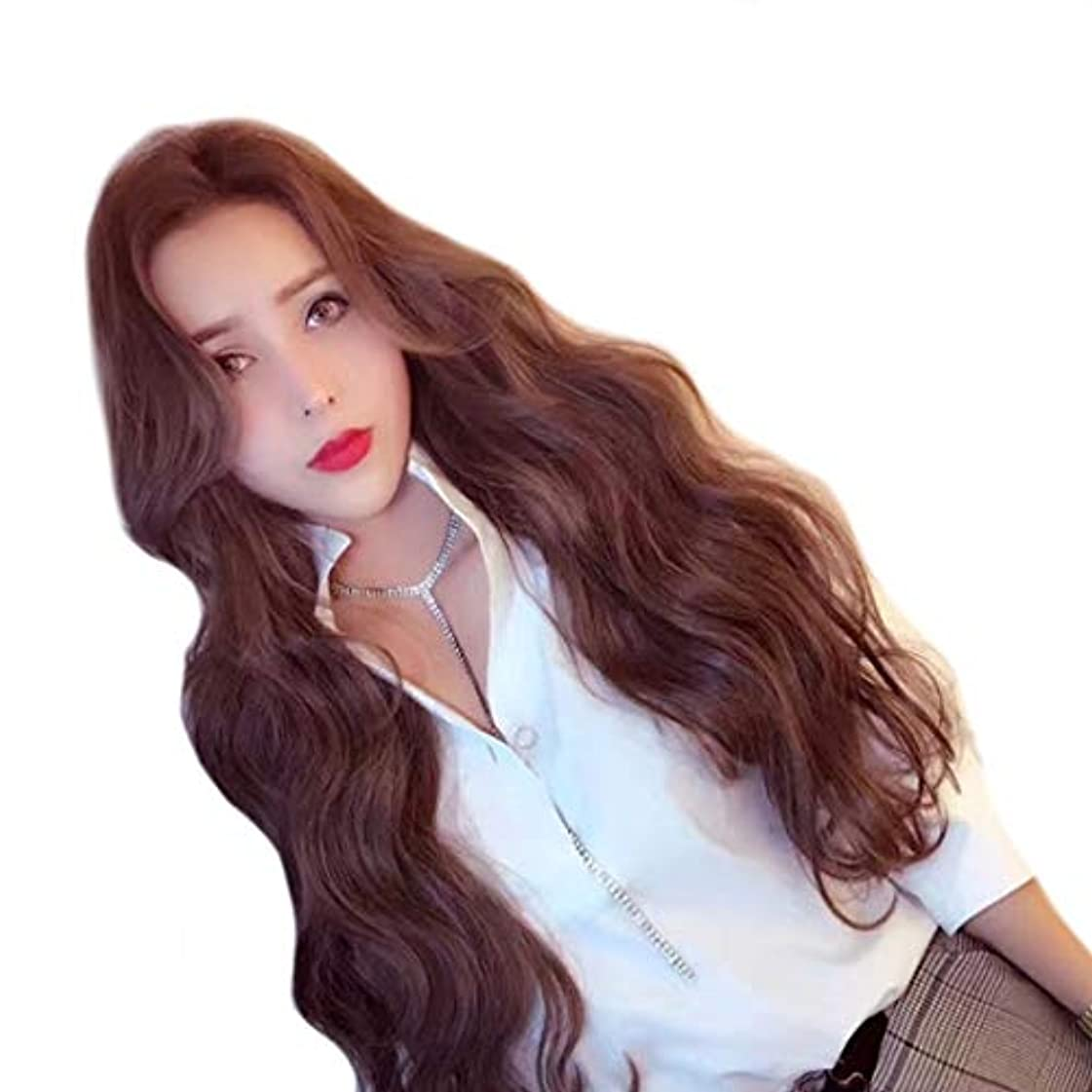 散髪ランタンデッドロックSummerys 耐熱性女性のための長く自然な波状の合成レースフロントかつら