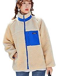 [YOUHA] ボアジャケット ボアブルゾン レディース アウトドア 羽織り 長袖 防寒 ふわもこ コート 胸ポケット あっ たか