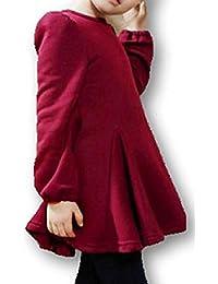 [アスペルシオ] 長袖 バック リボン ワンピース 子供服 キッズ ガールズ