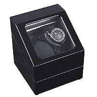 時計ワインダーボックスウェア保護時計ディスプレイスタンド自動デュアルウォッチワインダー5モード回転タイマー機能 (Color : Silver)