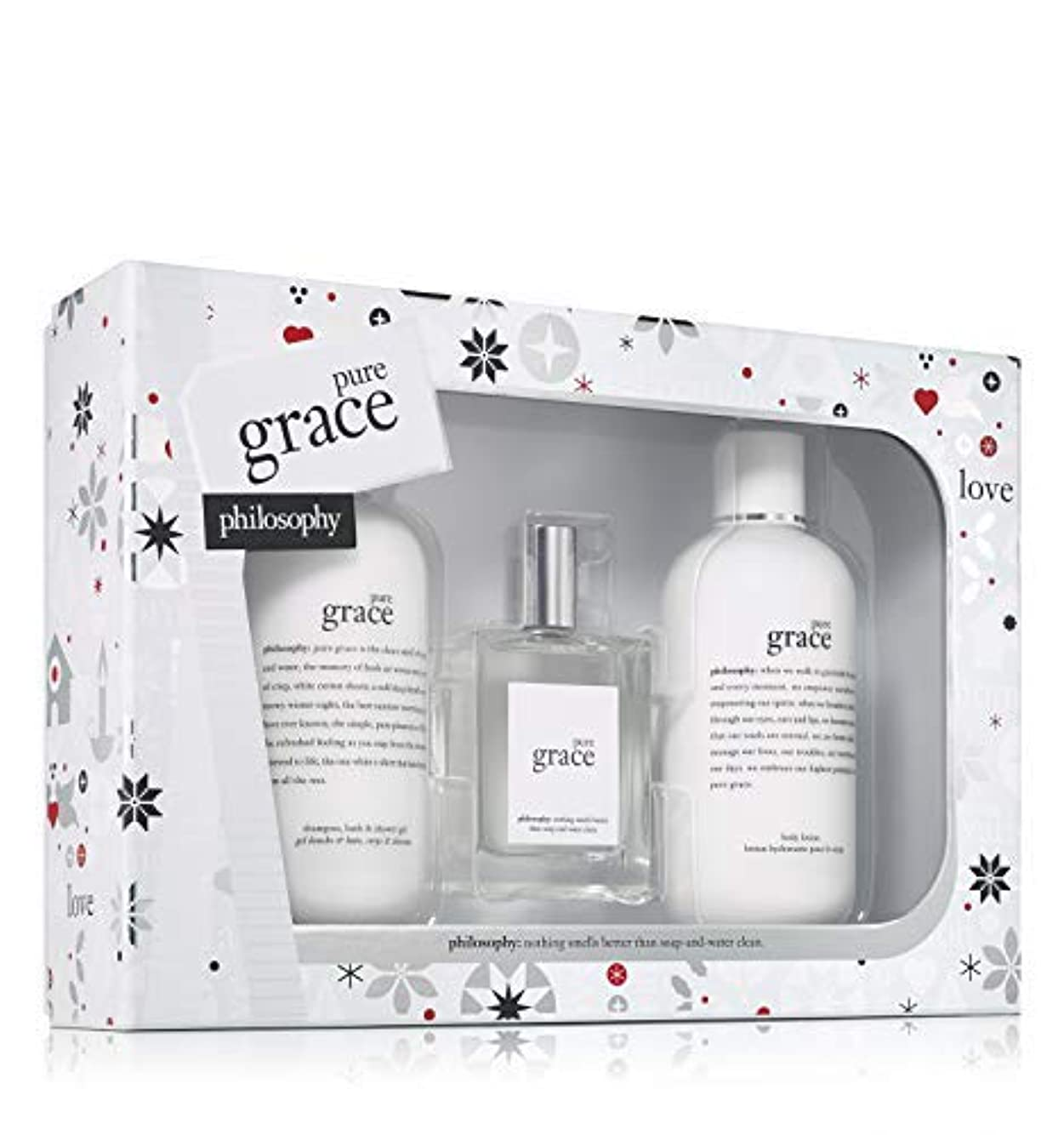 ジャーナル波あごPhilosophy - Pure Grace 3-Piece Gift Set Holiday 2017