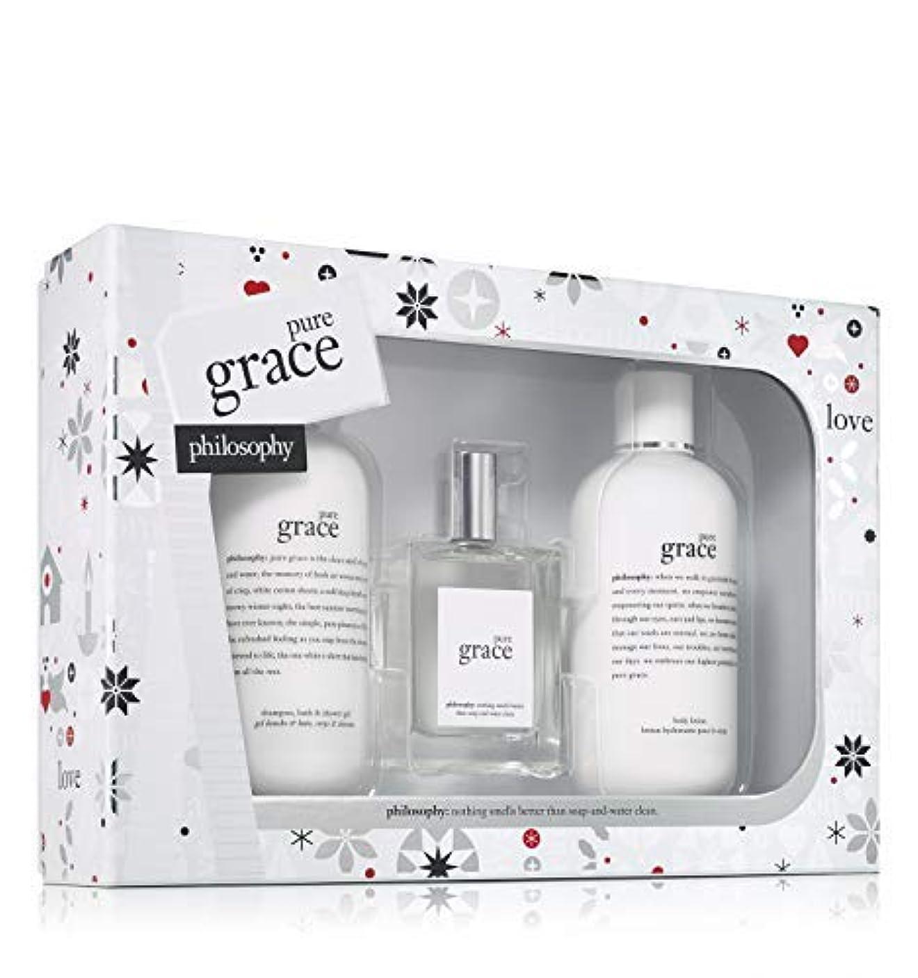 盆妨げる割れ目Philosophy - Pure Grace 3-Piece Gift Set Holiday 2017