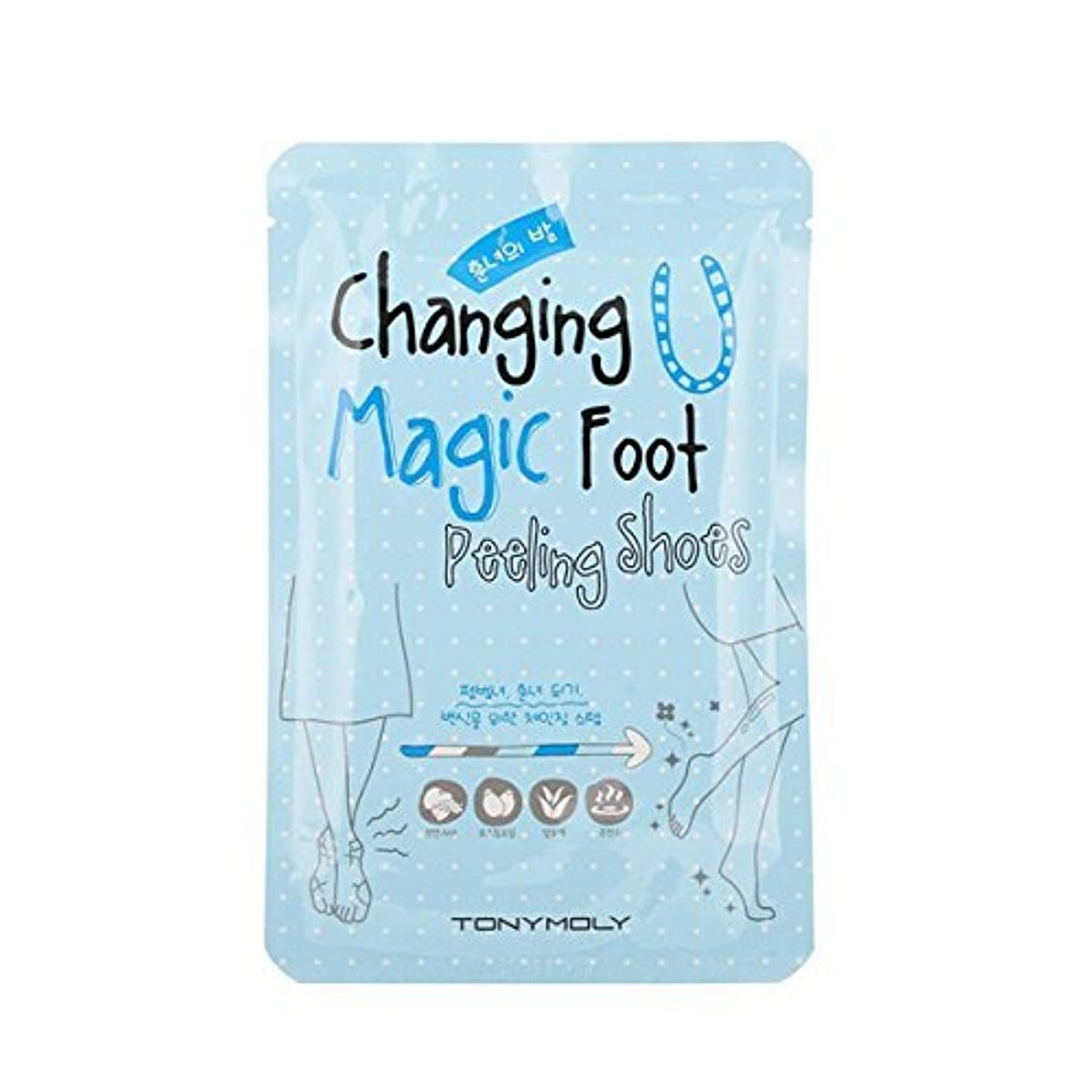 栄光マイク太字TONYMOLY Changing U Magic Foot Peeling Shoes (並行輸入品)