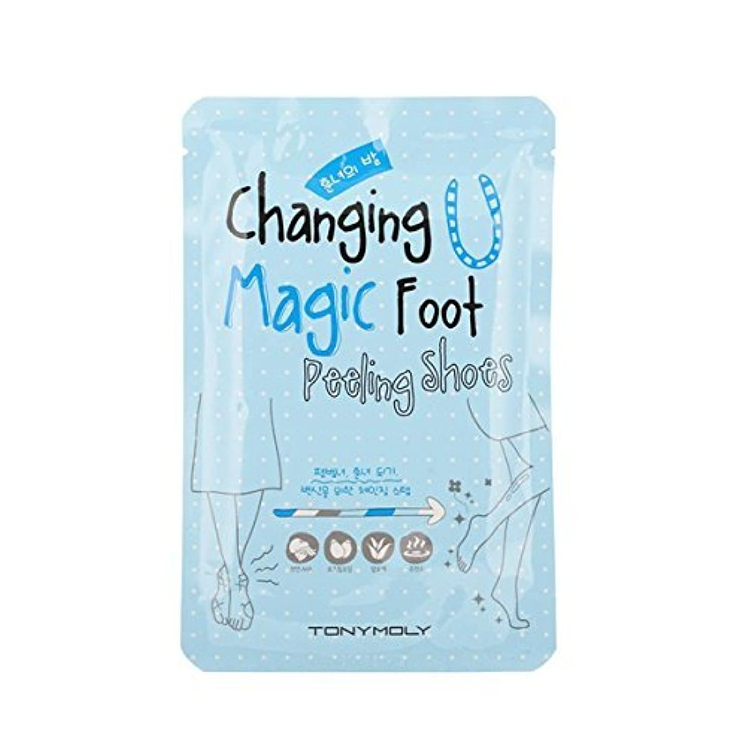 偽善促す水っぽいTONYMOLY Changing U Magic Foot Peeling Shoes (並行輸入品)