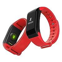 HWCOO 美しい腕時計 サンダスマートブレスレットスポーツステップカウンター防水Bluetooth同期情報心拍数 (Color : 3)