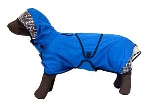中型犬 ~ 大型犬 用 レインウェア  イージー レインコート (ブルー, 6号)