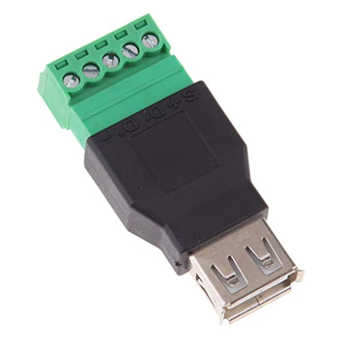 フィードオン和かなりのD DOLITY USB2.0タイプAメス~5ピンネジコネクタ プラグ シールド端子付 装飾