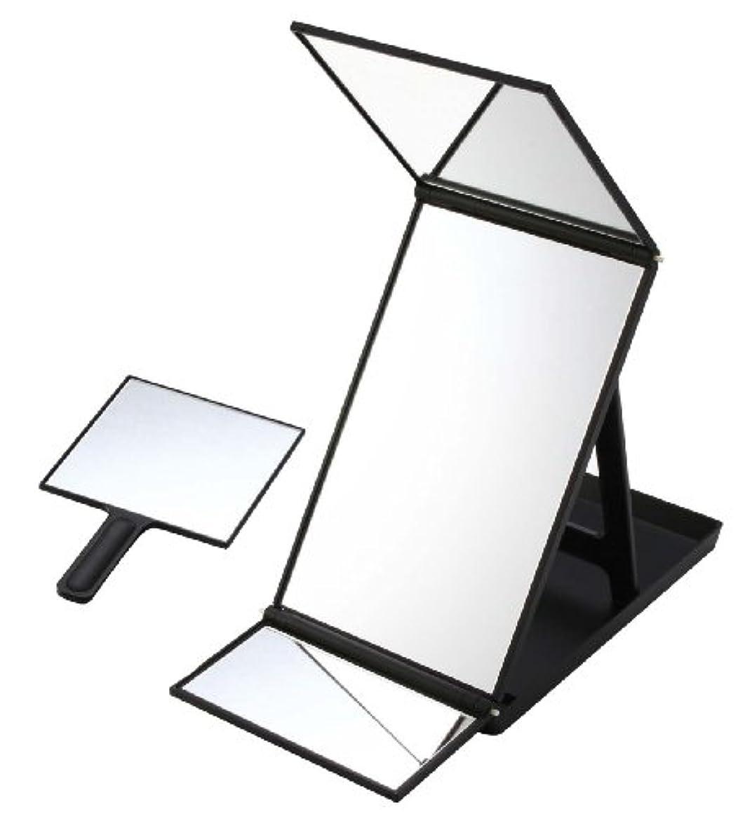 自治暫定の風刺ヘアカラーミラー ブラック YHC-5000