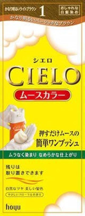 乳剤汚染する防ぐシエロ ムースカラー 1 かなり明るいライトブラウン × 5個セット
