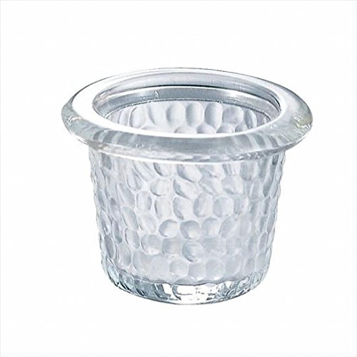 肺ハッピーメアリアンジョーンズカメヤマキャンドル(kameyama candle) ハンマードグラスライトハウス 「 クリア 」6個セット