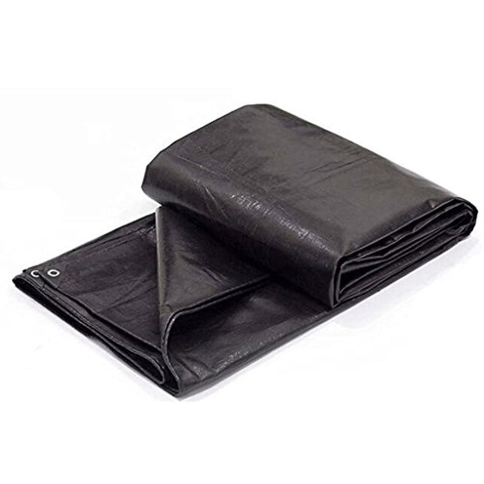 スラム帰するヤング防水キャンバス床カバー鵬重防水耐引張型日焼け止めアウトドア、各種サイズ、180 G/M 2、黒