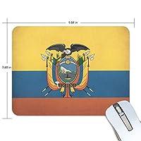 エクアドルの国旗 マウスパッド ゲーミング ワイヤレスマウスパッド 耐久性に優れ 滑り止めゴム底 防水 マウス おしゃれ 人気 厚い 25*19*0.5cm
