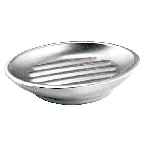 InterDesign Nogu Bath Soap Dish Brushed Stainless Steel
