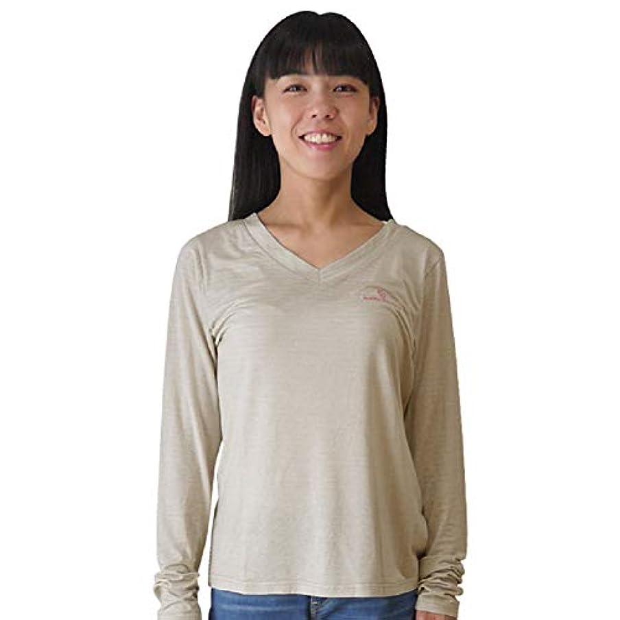 敗北等スイングmamodenpa Vネック Tシャツ 電磁波防止 電磁波対策 電磁波から身体を防護します。 EMC-311VTS ベージュ (M)